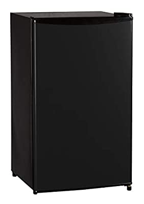 Keystone KSTRC331DB Full-Width Freezer Compartment in Black Energy Star 3.3 Cu. Ft. Compact Single-Door Refrigerator