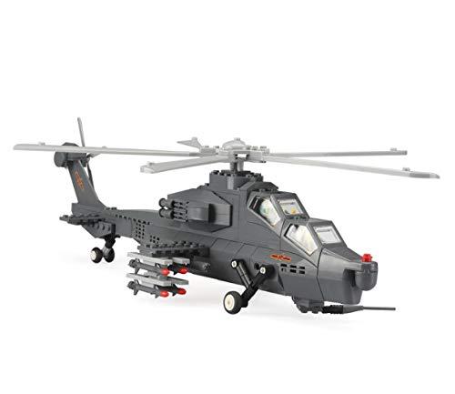 Maqueta de WZ-10. Modelo de helicóptero de Ataque para armar con Bloques. Aeromodelismo 1:38.