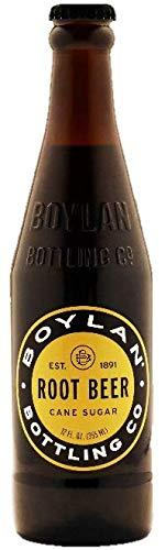Boylan Bottling Pure Cane Sugar Soda Pop, Root Beer, 12 oz Glass Bottles (Pack of 6)