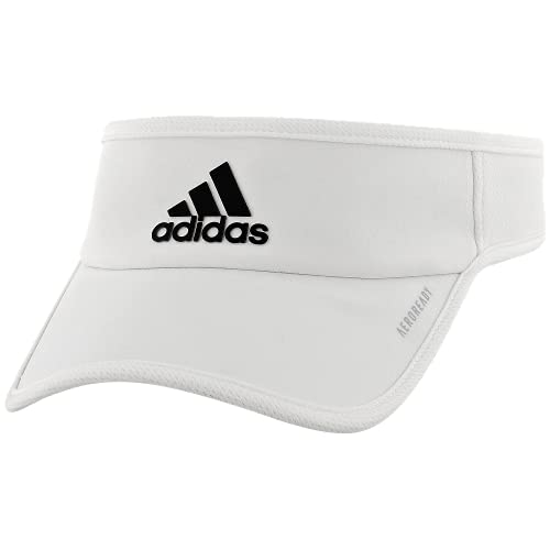 adidas Men's Superlite Performance Visor, White/Black, ONE SIZE