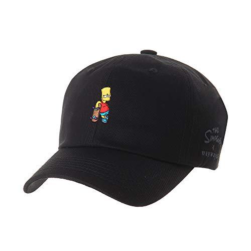 WITHMOONS Baseballmütze Mützen Caps Kappe The Simpsons Baseball Cap Bart Simpson Skateboard Hat HL1583 (Black)