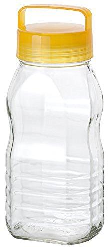 アデリア 保存びん 梅酒 果実酒びん 冷蔵庫収納 イエロー 2L CCコンテナー 日本製 810