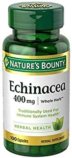 Nature's Bounty Echinacea 400 mg Capsules - 100 ct, Pack of 4