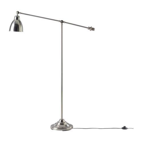 Ikea 300.895.76 Barometer Floor/Reading Lamp, Nickel Plated