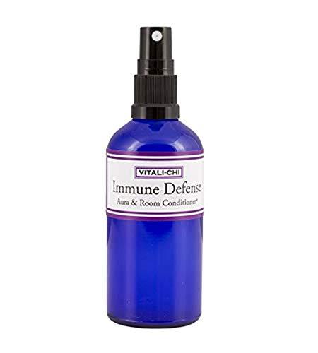 Pure Essential Air Purifying Spray - Immune Defense - with Proven Anti-Viral Teatree Lemon, Lemon and Eucalyptus Citriodora (Citriodiol) Essential Oils - Aura & Room Spray - 50ml