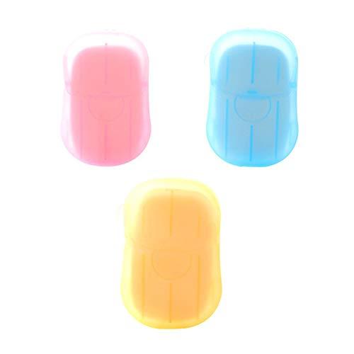 Danigrefinb 20 vellen/doos wegwerp papier zeep vellen outdoor mini zeep vlokken handwas douche geurende reinigingsvellen voor reizen 3pcs Willekeurige kleur