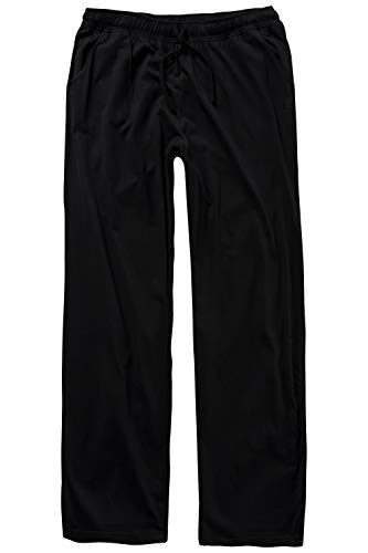 bis 8XL, Pyjama-Hose aus 100% Baumwolle, Schlafanzug-Hose, Sweatpants mit elastischem Bund schwarz 4XL 708406 10-4XL