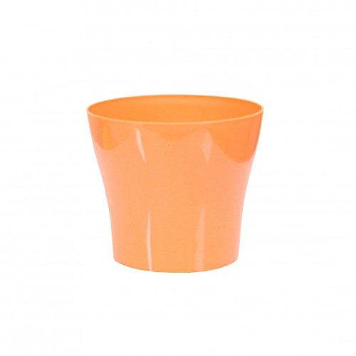 Plastkon Décoration Pot Tulipan Diamètre 22 cm, Orange
