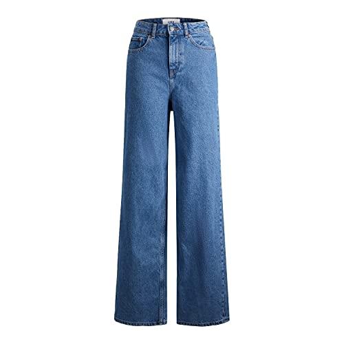 Jack & Jones JJXX JXTOKYO Wide HW NR6002 Noos Jeans, Medium Blue Denim, 29/34 aux Femmes