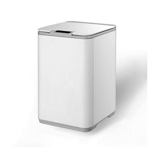 Cubo de Basura Bote de basura Smart Induction Basura PUEDE 10L Basura de la sala de estar para el hogar con el inodoro de la tapa y la cocina impermeable para la toma de basura, suave y suave para la