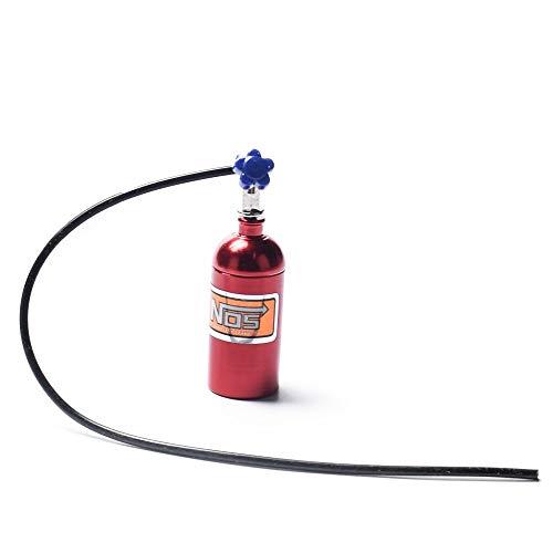 cherrypop Botella de nitrógeno NOS simulada de metal para 1/10 RC Crawler Car Bronco D90 D110 TRX4 Axial Scx10 90046, rojo