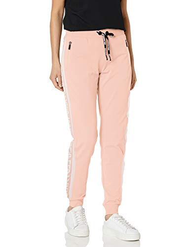 Karl Lagerfeld Paris Damen Block Lettered Logo Pants Jogginganzug, Sherbet, X-Klein