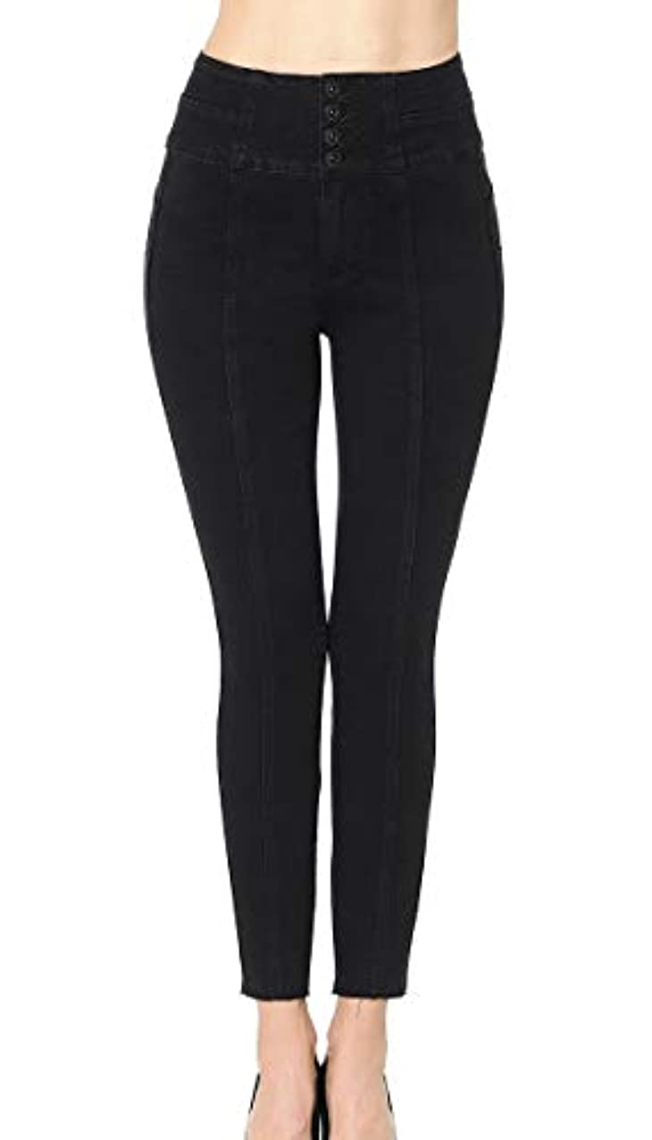 Wax Women's Juniors 'Butt I Love You' Push-Up Front Seam Ankle Skinny Denim Jeans