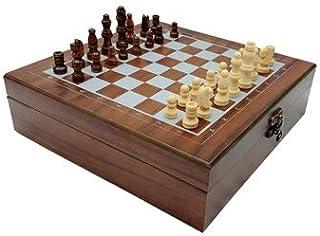 Chess Folding Wooden Box 4 In 1 International Chess Poker Dice Dominoes SetsTravel Games Entertainment Board Games Chess B...