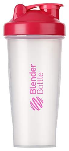 BlenderBottle Classic Shaker | Shaker Protéine | Bouteille d'eau |Blenderball | 820ml - Pink / tranparent