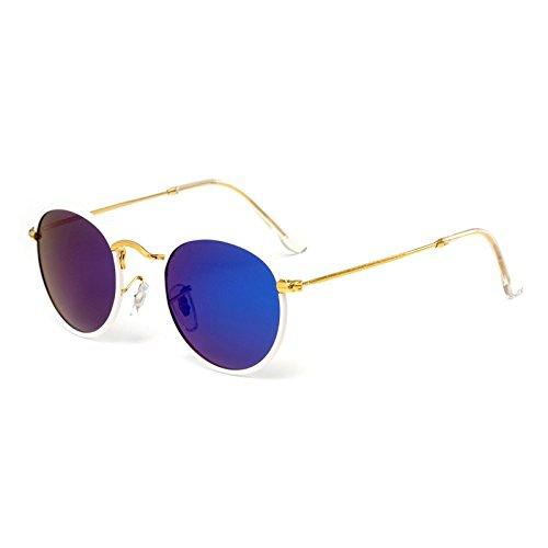 Lanbinxiang@ Moda Gafas de Sol para niños Tendencia Linda Gafas de Sol con Montura Redonda Polaroid Gafas de Sol Niños Chicas Niños Gafas para bebés UV400 Espejo Claro