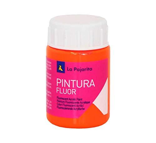 La Pajarita 1166/16 - Pintura acrílica, 75 ml, color naranja fluorescente