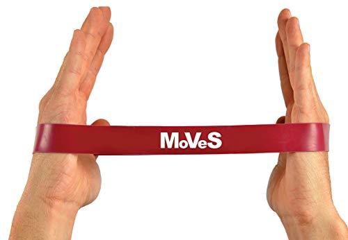 MSD Banda Loop roja–Banda elástica media cerrada para pilates, yoga, fitness
