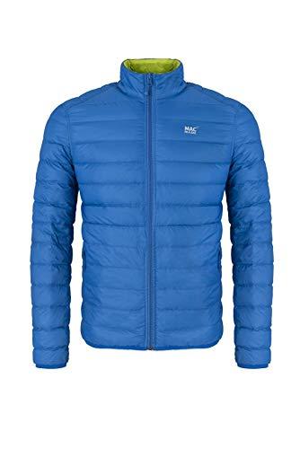 Mac in a Sac® - Doudoune en Duvet Polar - pour Homme - Bleu électrique/Vert Citron Fluo - M