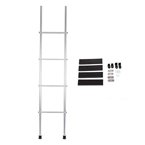 KUAFU 60'' Aluminum Bunk Ladder W/Hook and Rubber Foot Pads