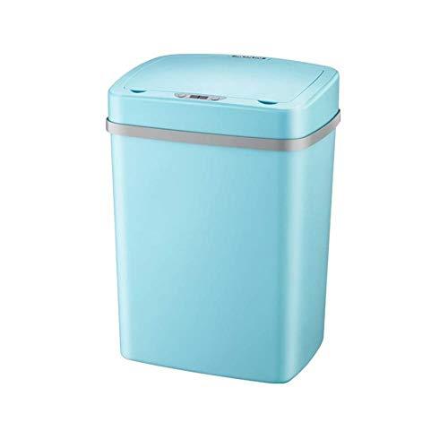 SOME Cubos de basura Basura y reciclaje La basura del sensor inteligente puede, 12L Salón Dormitorio Cocina Baño automático eléctrico cubierto de basura de carga pueden (Color : B)