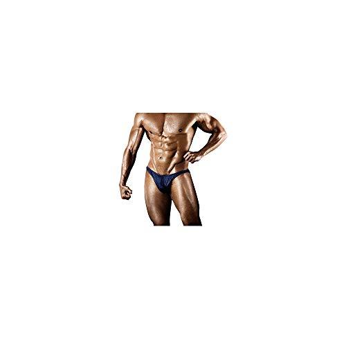 Celucke Badeslip Herren Enge Badehose Kurze Schwimmhose Kordelzug Stretch Badestring Männer Slips Badeshorts Bademode Schwimmshorts Schnelltrocknend String Tanga Sommer Shorts (Blau, XL)