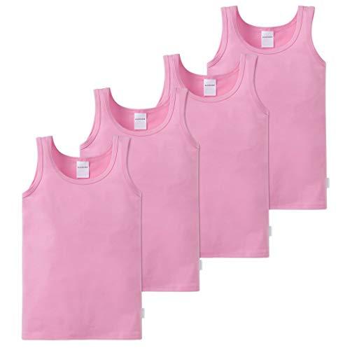 Schiesser Mädchen Unterhemd (4X Rosa, 104)