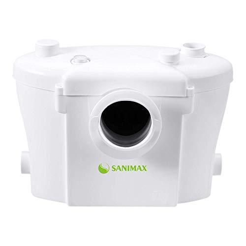 Sanimax Trituratore Maceratore Pomp 3/1 WC Lavabo bidet vasca doccia silenzioso con filtro a carbone 400W