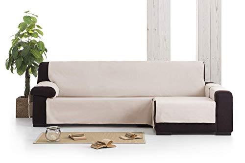 Eysa Garona Protect Funda de sofá, 90% algodón 10% poliester, 6/gris, Chaise longue 240 cm, izquierda vista frontal