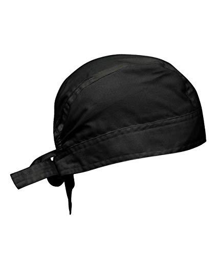 Islander Fashions Chefs Zandana Bandana T�te Bouchon De Protection Cuisine Thermo Cool Headwear Bandana Noir One Size