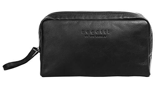 Bugatti Kulturtasche Corso Echt Leder schwarz Herren, Damen - 019889