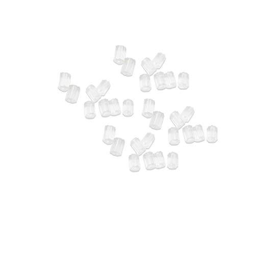 GGOOD 144 Stück Silikon-ohrhaken Klar Ohrring Sicherheit Weiche Ohrrückenpolster Ersatzohr Zurück Stopper-Geschenk Für Mädchen-Frauen-Backs