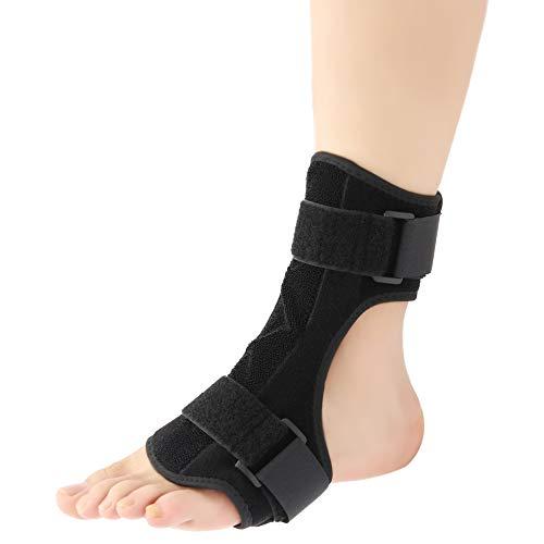 liuzhuo 足首サポーター ねんざサポーター 垂れ足 矯正 足底筋膜炎 痛み軽減 屈曲可能な金属バー 足関節固定 マッサージボール付き 足関節 保護 キレス腱断裂 調節可能 通気性良好