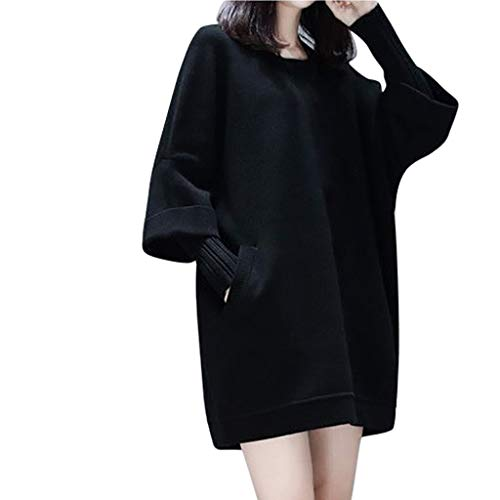 Snakell Pull Robe Courte Femme Hiver Manche Longue Casual Mini Dress Col Rond Tricot Chandails Blouse Elégant Robe Tunique Pullover Slim Sweater Mini Tricot Robe Pullover Blouse