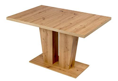 MSZ Design Esstisch Verona Säulentisch 120 x 80 cm ausziehbar auf 160 cm
