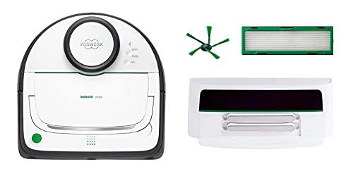 Vorwerk Folletto VR300, aspirapolvere robot a batteria, 90 minuti di durata della batteria, controllo K app, migliore assorbimento della polvere, incluso set regalo Finoo