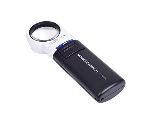 Eschenbach Optik Lupe Handlupe mit LED-Beleuchtung mobiluxLED Vergrößerung: 10x Linsengröße: (Ø) 35mm