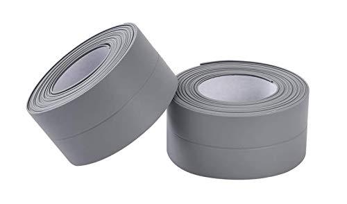 Fines 高品質 防水 テープ 幅 38mm 長さ 3.2m 2個 セット(グレー)