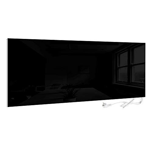 VIESTA H700-GS Infrarotheizung Glas 700W, schwarz - Heizpaneel mit höchstem Wirkungsgrad Dank Carbon Crystal Technologie, Flache Glasheizung aus Sicherheitsglas, Elektroheizung mit Überhitzungsschutz