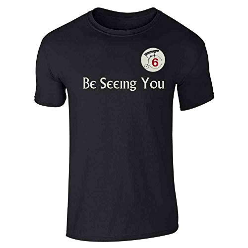Be Seeing You Number 6 Cult Halloween Costume Black 5XL Graphic Tee T-Shirt for Men