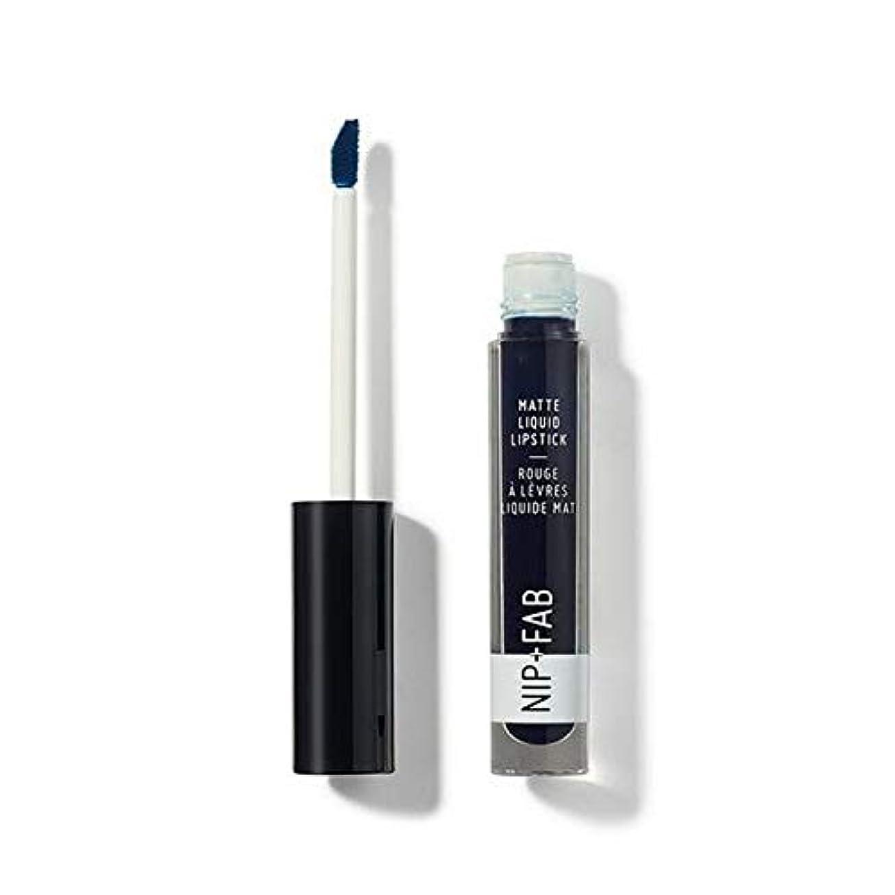 摂氏度フリンジ取り戻す[Nip & Fab ] + Fabマット液状口紅ブルーベリーシャーベット60ニップ - Nip+Fab Matte Liquid Lipstick Blueberry Sorbet 60 [並行輸入品]