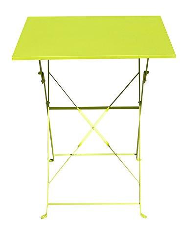 PEGANE Table de Jardin Pliante carrée Coloris Vert - Dim : 60 x 60 x 71 cm