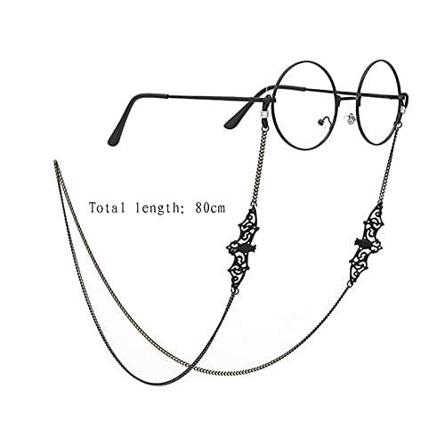 Jing Ger Gafas de Sol Negras Cadena Lanyard Glasses Accesorios Gafas de Sol Lectura Gafas Correa Cuerda Cuerda Cuerda de Cordones (Color : A Bat)