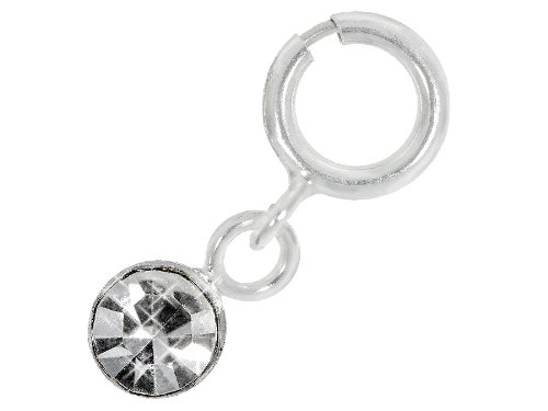 Nagelpiercing Silber Mit Stein Klar - 925 Sterling Silber - Nailart Finger Fuß