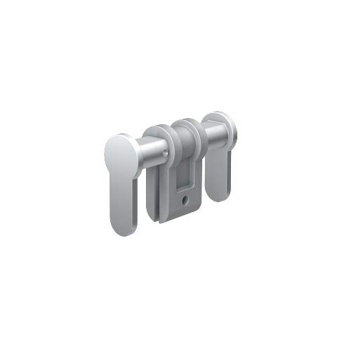 BASI BZU 100 Universal-Blindzylinder verstellbar, matt vernickelt, für FH-Türen (Einstellbereich 84-150 mm)