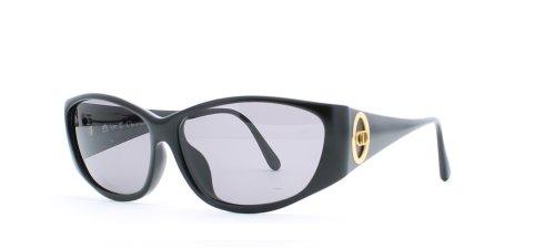 Christian Dior 2853 91 Damen-Sonnenbrille, quadratisch, zertifiziert, Vintage-Stil, Schwarz