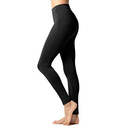 LAPASA Damen Thermo Leggings Innenfleece, Sport Leggins Lang Push Up High Waist Bauchweg mit Taschen MEHRWEG L36 (Schwarz, XL)