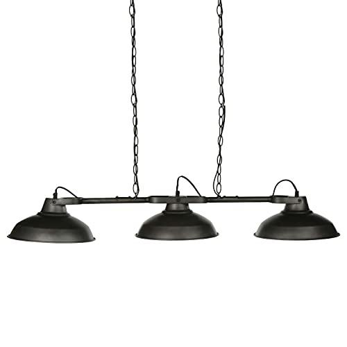 Paris Prix–Lámpara colgante Metal 3cabezas negro