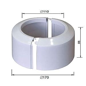 Alta fracción de dos piezas blanco wc roseta aseo tubería de conexión del suelo cubierta collar de 110 mm