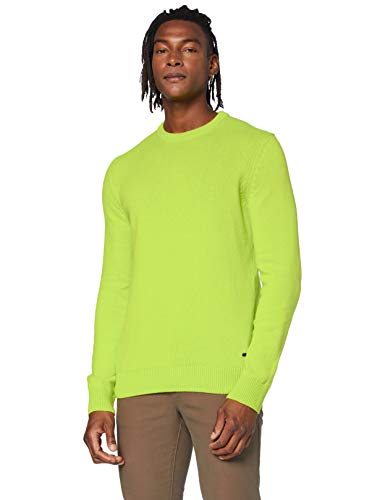 BOSS Kontreal suéter, Amarillo Brillante (735), XL para Hombre
